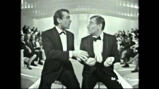 Renato Rascel e Walter Chiari a Sabato sera stupendo sketch di canzoni