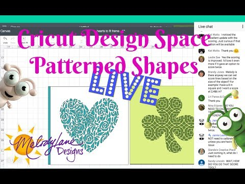 Making Patterned Shapes in Cricut Design Space Live Class