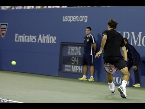 [HD] Federer between the legs winner in Zurich ! (Match for Africa)