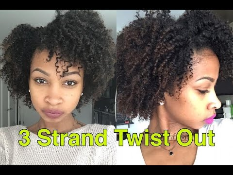 natural hair twist styles youtube 3 strand twistout step by step hair 4086 | hqdefault