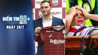Điểm tin 90+ ngày 28/7 | Vermaelen hội ngộ Iniesta; Hung thần của Ramsey gặp chấn thương kinh hoàng