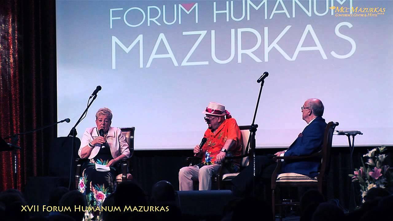 XVII FHMazurkas-dyskusja Janiny Tuora, Andrzeja Bartkowskiego z malarzem Witoldem Mysyrowiczem