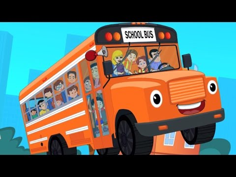 the wheels on the bus | nursery rhymes | kids songs | vehicle rhymes