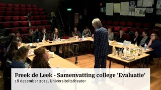 Freek de Leek - Samenvatting college 'Evaluatie'