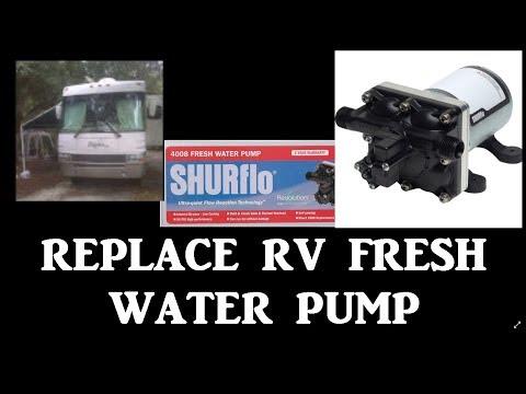 HOW TO REPLACE RV FRESH WATER PUMP SHURFLO REVOLUTION | ADJUST PRESSURE SWITCH