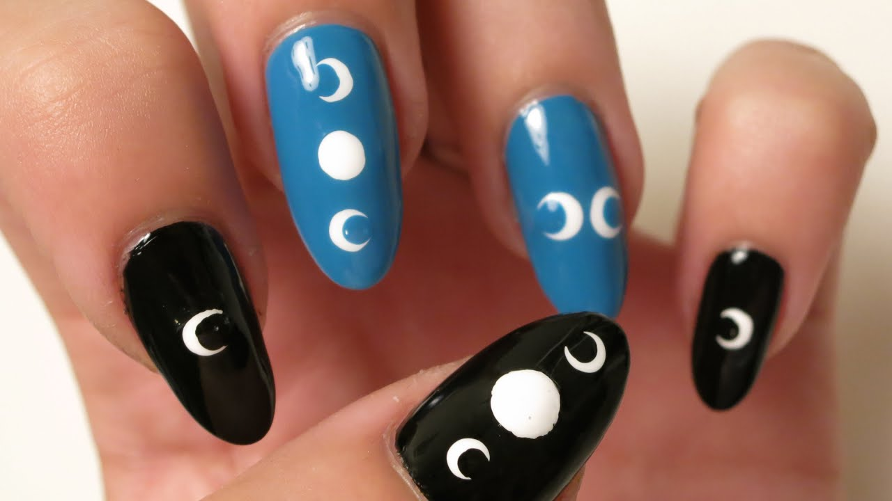 Crescent Moon Nails - YouTube