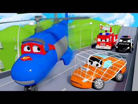 The pursuit of Tyler the Bad Racing Car ! - Carl the Super Truck in Car City | Children Cartoons