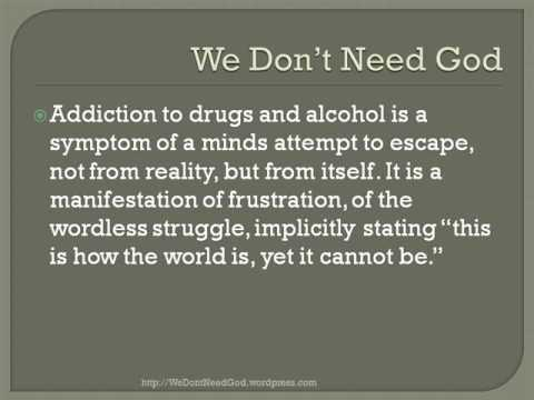 We Don 39 T Need God To Cure Addiction Youtube