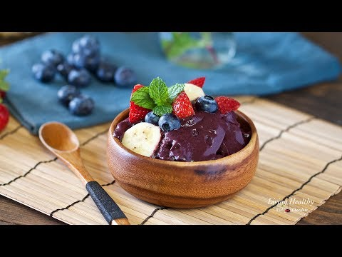 How to Make Traditional Acai Bowls (3 ingredients)