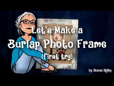 How to make a Burlap Photo Frame | Walmart Inspired