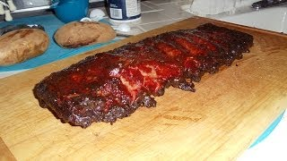 Saint Louis Style BBQ Pork Ribs, Low and Slow
