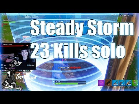 Fortnite Steady Storm 23 Kills Solo. Ridiculously Close.