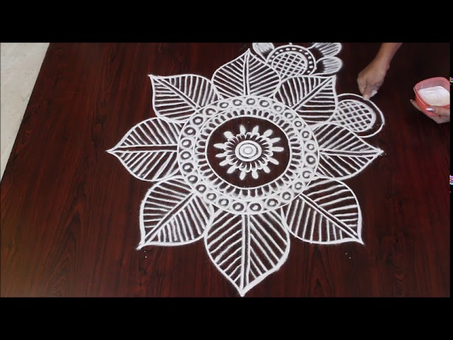 Simple and beautiful rangoli design ll sankranthi muggulu