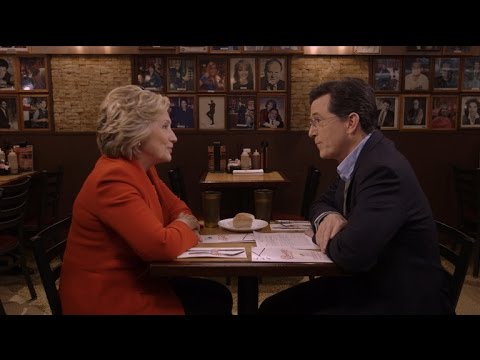 Stephen Interviews Hillary Clinton At Carnegie Deli