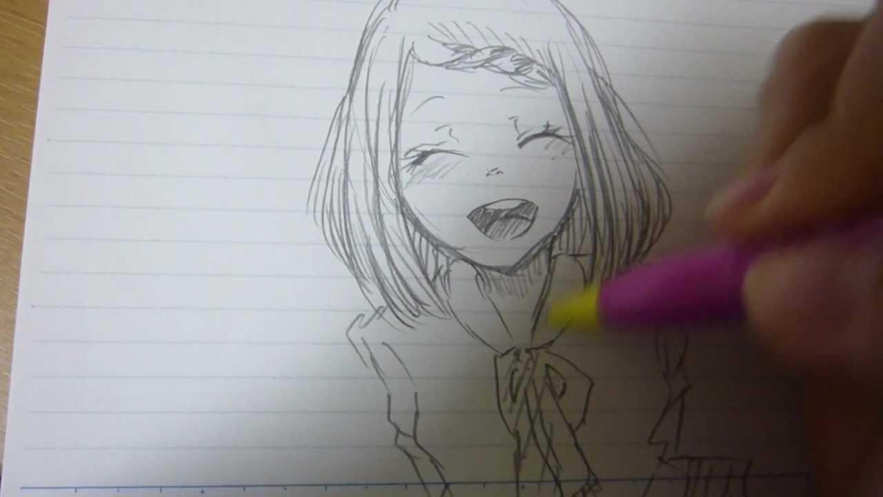 女の子描いてみた前髪編みこみ Youtube
