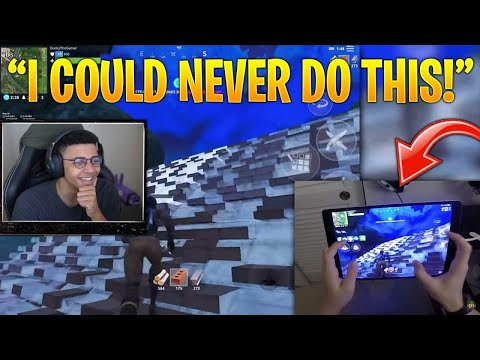"Myth Reacts to ""Fortnite Mobile Hand Cam"" & ""Fortnite Mobile Build Battles to Max Height"""