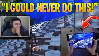 """Myth Reacts to """"Fortnite Mobile Hand Cam"""" & """"Fortnite Mobile Build Battles to Max Height"""""""