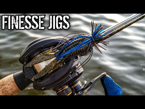 Finesse Jig Fishing For Cold Water Bass (Fanny Pack Fishing Challenge?)