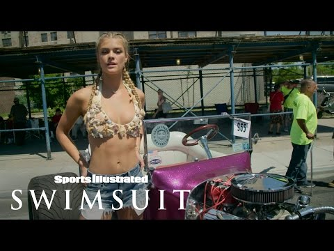 Hot vintage cars and the hotter Nina Agdal   Sports Illustrated Swimsuit