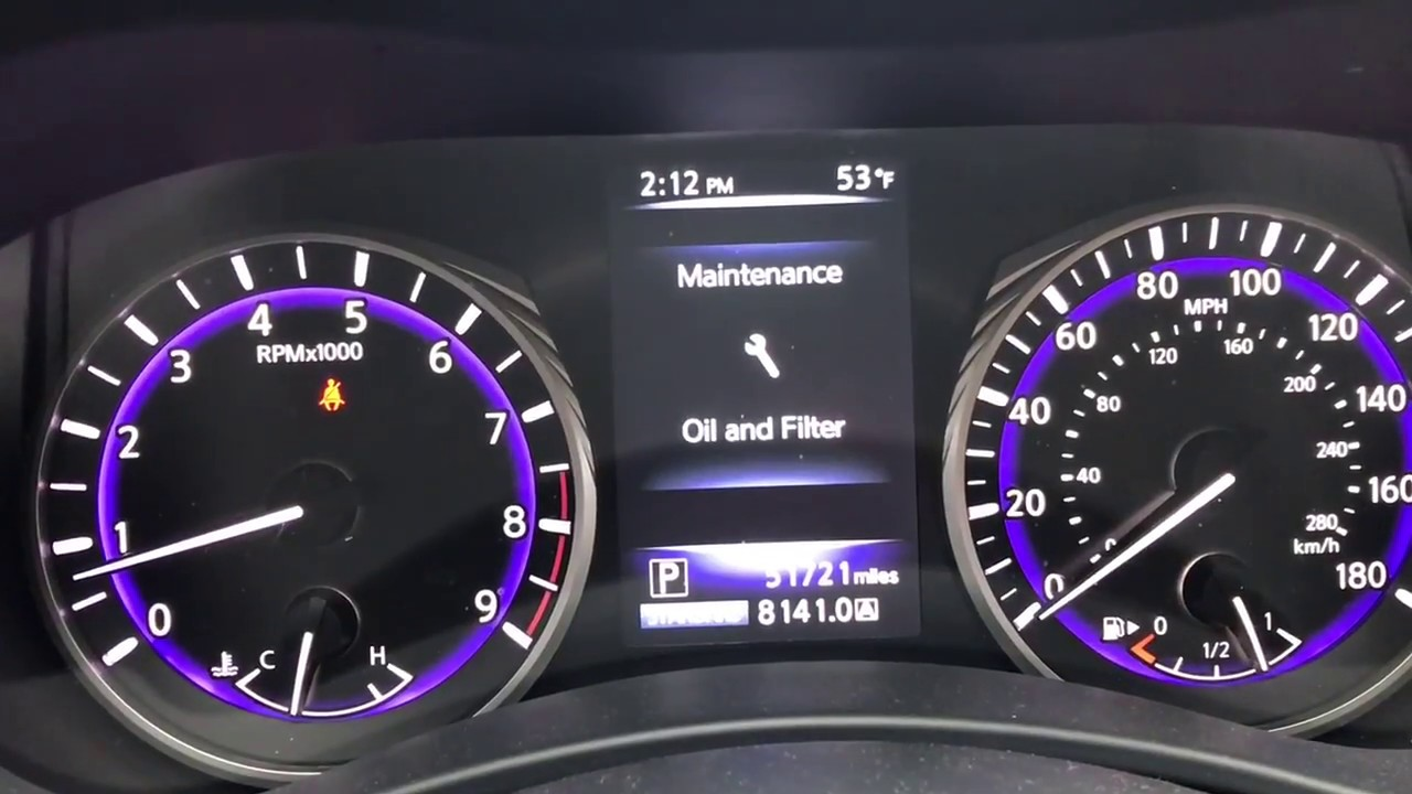 How To Reset Oil And Tire Maintenance Notification On Infiniti Q50 Q70 2017 2018 Easy