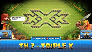 ★ Clash of Clans Troll Base ★ TH7 - Triple X Farming