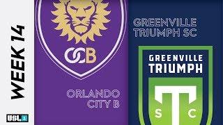 Orlando City B Vs. Greenville Triumph SC June 28th 2019