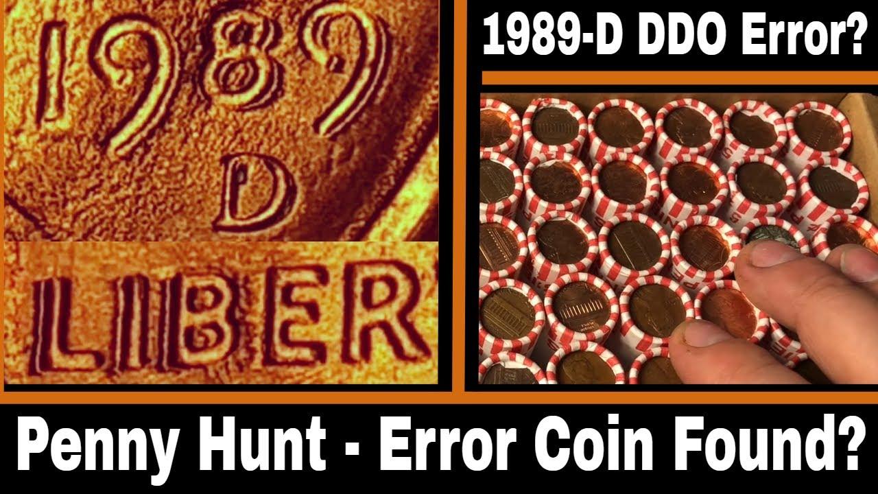 Hunting Pennies - Found Error Coin? (1989-d DDO)