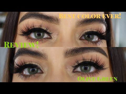 New Color Contacts In A Olive Green Shade!!! |Hapakristin | *Giveaway