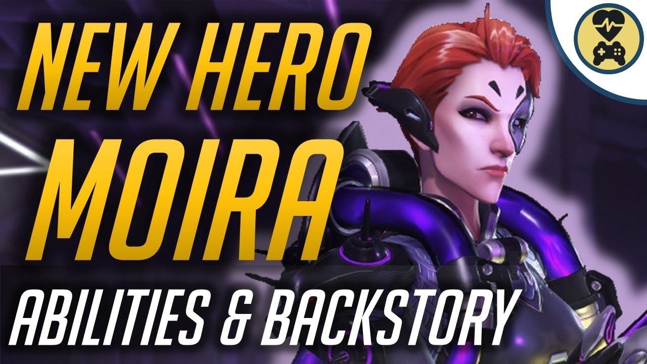 new hero moira abilities backstory overwatch youtube