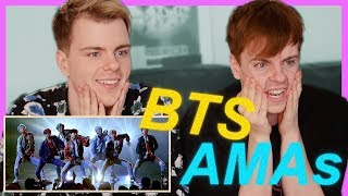 BTS American Music Awards Performance (DNA) Reaction | Niki and Sammy
