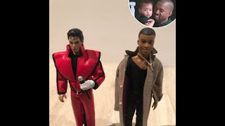North West Plays With a Doll That's Dressed Just like Dad Kanye West