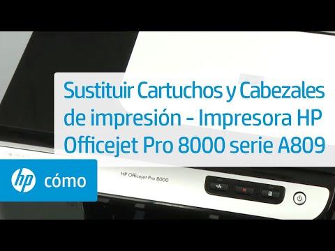 Sustituir Cartuchos y Cabezales de impresión - Impresora HP Officejet Pro 8000 serie A809 | HP