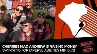 NEWS: Cherries Mad Andrew Swimming For Vital Minibuses | AFC Bournemouth Charity Partner