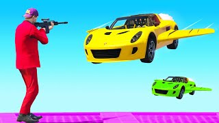 SNIPE The FLYING CARS In GTA V!
