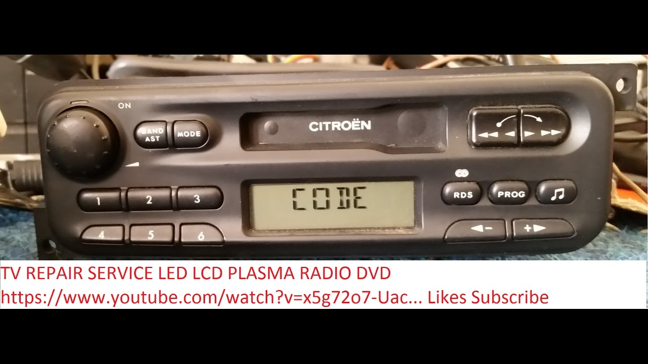 CITROEN PHILIPS 22RC465/36 RADIO code unlock - YouTube