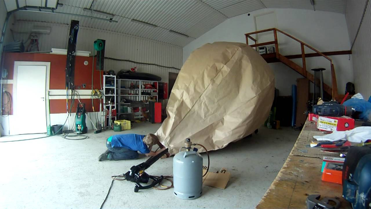 Homemade Paper Hot Air Balloon with