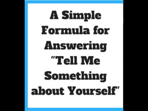Tell me about yourself- best way to answer- Fresherjobseekers #Interviewskills