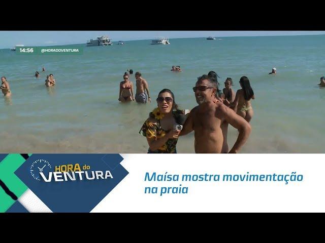 Maísa mostra movimentação na praia- Bloco 02