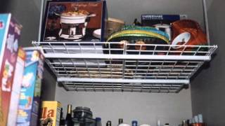 HyLoft 00720 Overhead Storage System; hanging shelves from ceiling, garage ceiling shelves