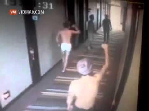 CCTV footage of pop star Harry Styles dancing half naked in hotel