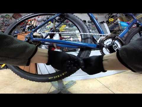 Как установить цепь на скоростной велосипед схема