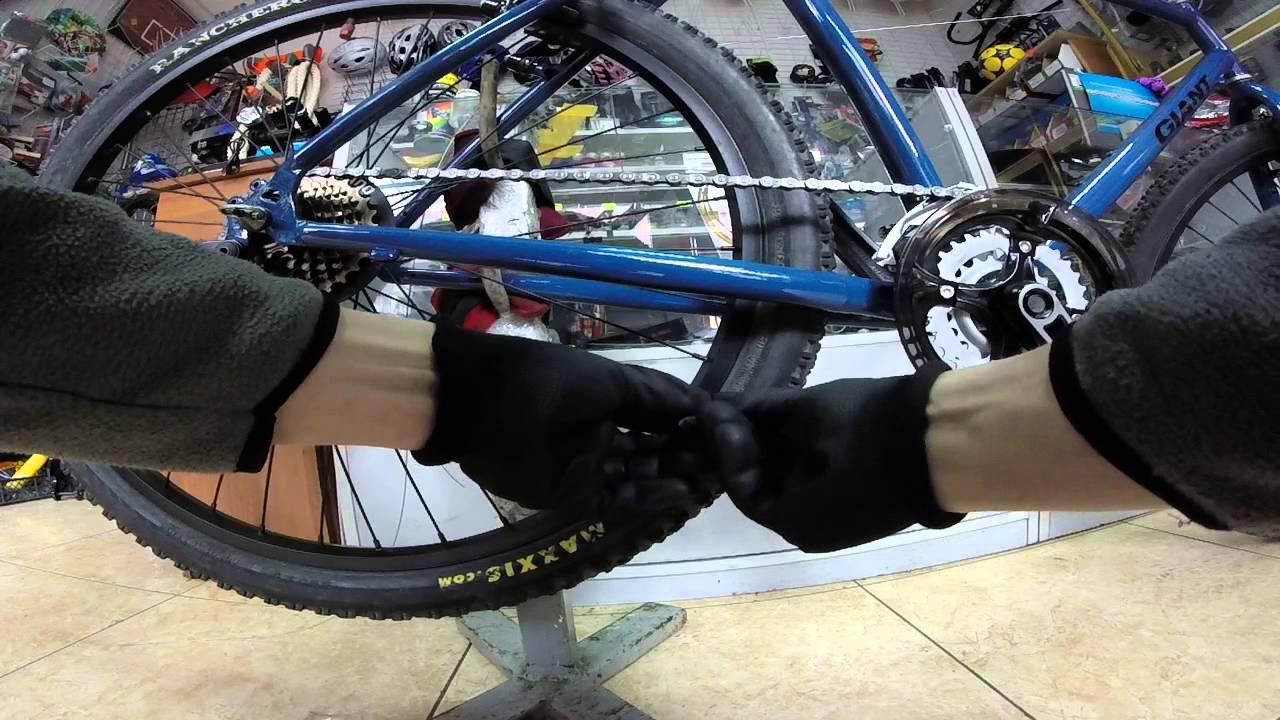 Как установить цепь на велосипед