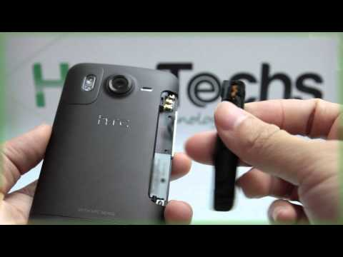 HTC Desire HD: Inserting the Battery