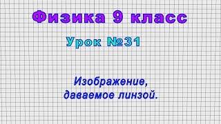 физика 9 класс (Урок31 - Изображение, даваемое линзой.)