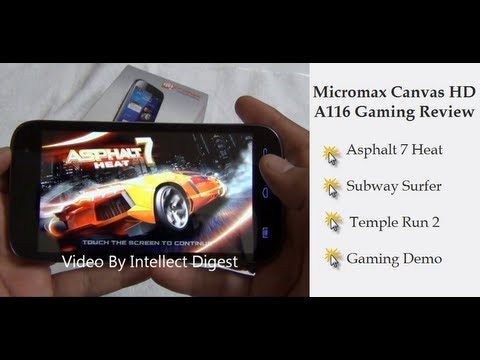 Micromax Canvas HD Gaming Review- Asphalt 7 Heat, Subway Surfer And Temple Run 2