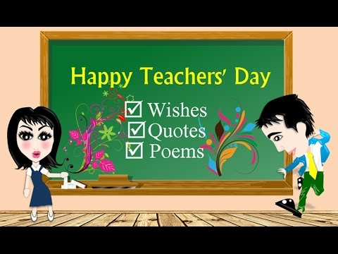 Happy Teachers' Day Wishes, Quotes & Poems - YouTube