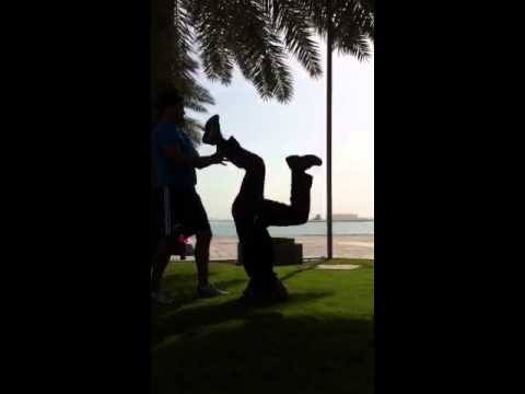 Yoga on Doha's Corniche