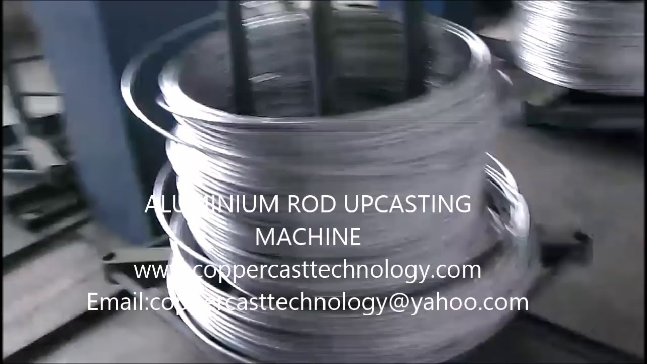 NEW 2017-2016 - ALUMINIUM- ROD-UP-CAST- upward casting-MACHINE VIDEO ...