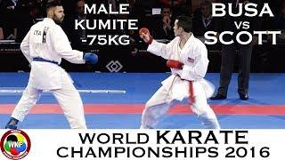 Video BRONZE. Male Kumite -75kg. BUSA (ITA) vs SCOTT (USA). 2016 World Karate Championships download MP3, 3GP, MP4, WEBM, AVI, FLV Agustus 2017