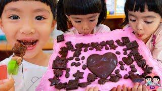 หนูยิ้มหนูแย้ม   ทำฟองดูช็อกโกแลต Chocolate Fondue